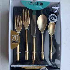 Towle gold satin gold wave flatware utensils